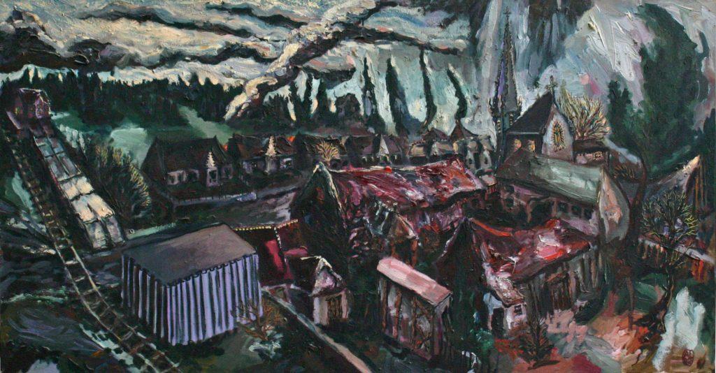 Dorfansicht von Dranse bei Wittstock
