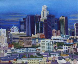 Los Angeles 24cm x 30cm 2019 Öl Gemälde