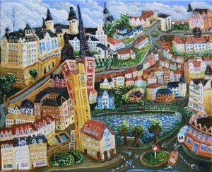 Altenburg 2017 24cm x 30cm Öl Gemälde