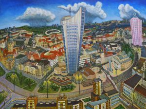 Leipzig-90x120cm-2007 Öl Gemälde