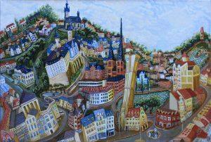 Alten Berg  40cm x 60cm 2017 Altenburg Öl Gemälde