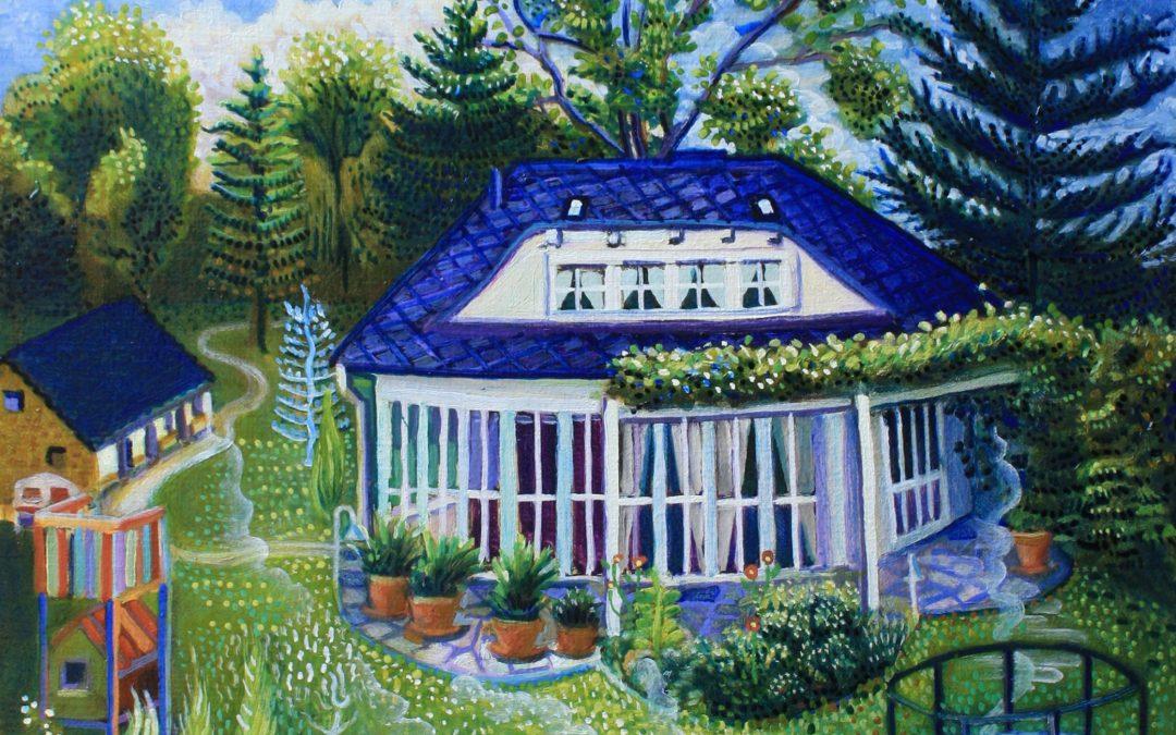 Haus am Wald Rand 2020 Öl auf Leinwand 50cm x 40 cm