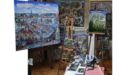 Im Atelier des Künstlers in Zürchau